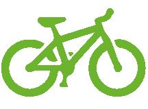 Logo vélos offres en vert